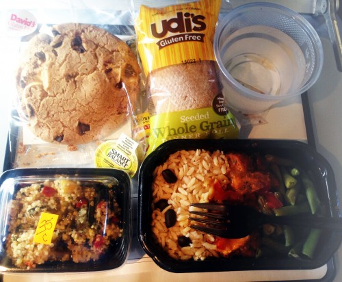 Posiłek bezglutenowy w samolocie, część 1, Paleo SMAK