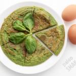 Omlet ze szpinakiem - zielone jajka