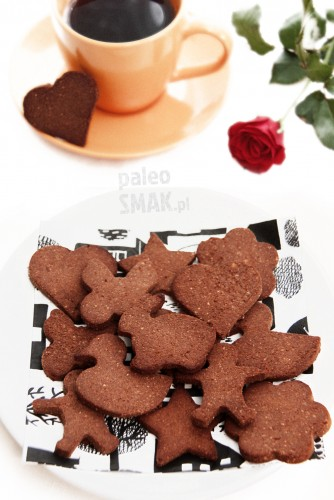 Ciasteczka czekoladowe paleo z foremek