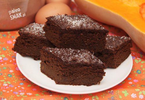 Brownie z dyni paleo