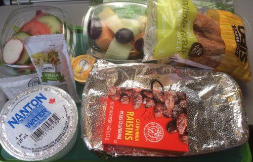Posiłek bezglutenowy w samolocie