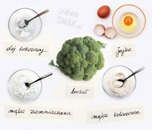 Ciasteczka brokułowe - składniki