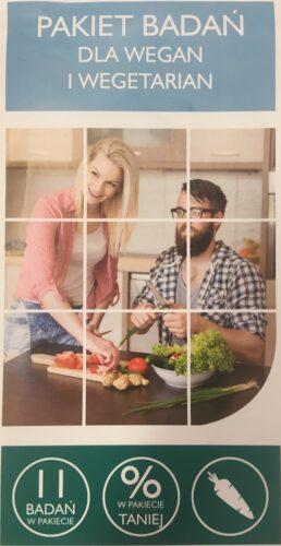 Paket badań dla wegan i wegetarian