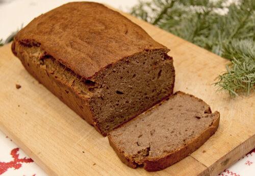 chleb paleo bananowy z mąki gryczanej