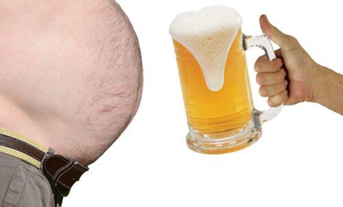 otyłość, piwo